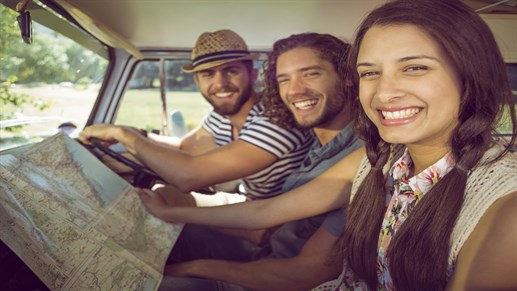 Car -young People - Driving - Map - Roadtrip 1280x 720