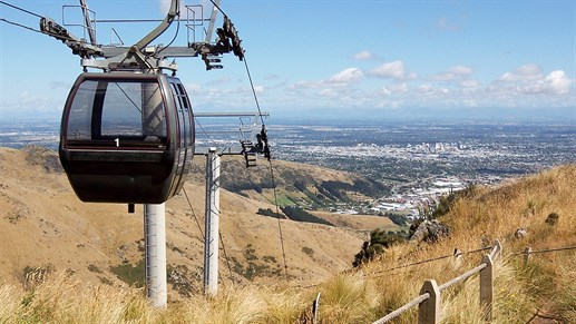Resor till Christchurch - Ta linbanan Christchurch Gondola
