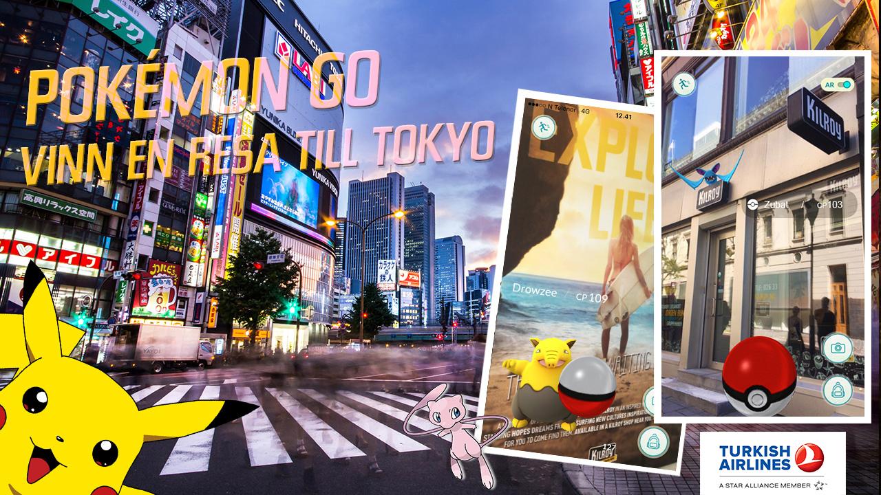 Spela Pokemon Go Utomlands Surf
