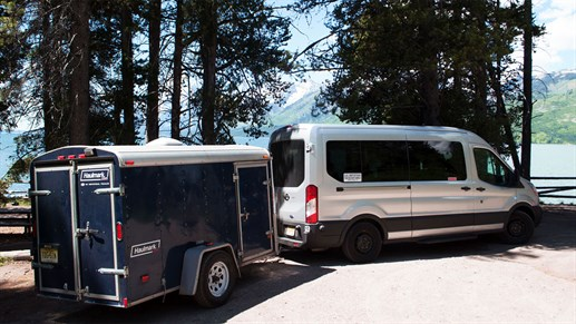 Tour van in USA and Canada