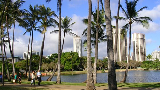 Honolulu, huvudstaden på Hawaii