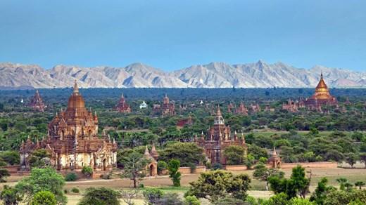 Vackrare tempel än de i Burma är svårt att hitta