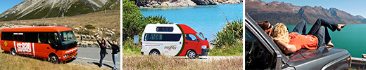 Bus, campervan, and car rental in New Zealand